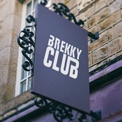 Brekky Club Ad Sign
